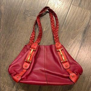 Vera Pelle red leather bag
